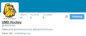 The hockey Twitter account, which will highlight  both programs