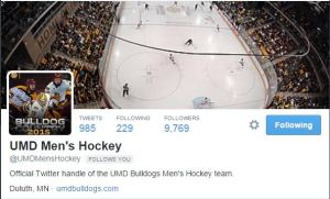 The new men's hockey Twitter account